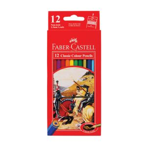Faber-Castell Classic Colour Pencils 12 assorted + Gold