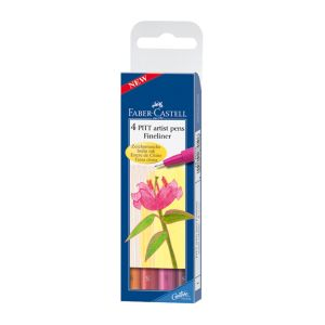 FC Pitt Artist Fineliner Set 4 Warm Colours 0.3mm_