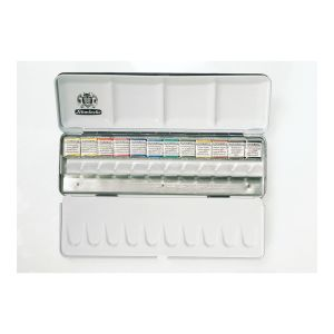 HORADAM® Aquarell - Metal set 12 x 1/2 pans + extra space
