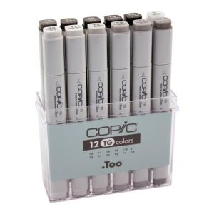 Copic Marker Set 12 Toner Grey