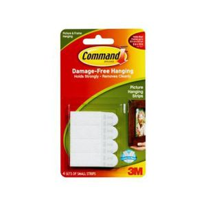 Command 3M 17202ANZ Picture Hanging Strips Small