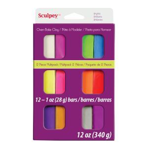 SCULPEY III BRIGHT MULTI PACK 12 X 1oz