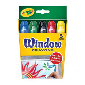 Crayola Washable Window Crayons Set of 5