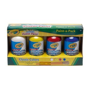 Crayola Washable Poster Paint 4 x 250ml