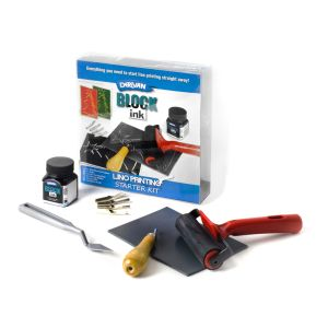 DERIVAN BLOCK INK LINO PRINTING KIT