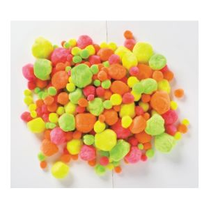 Educational Colours POM POMS x 50 NEON assorted sizes_