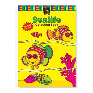 Educational Colours COLOURING BOOK - Sealife