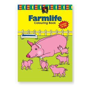 Educational Colours COLOURING BOOK - Farmlife