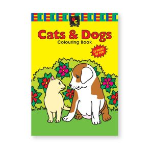 Educational Colours COLOURING BOOK - Cats and Dogs