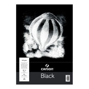 Canson Black Paper Pad A3
