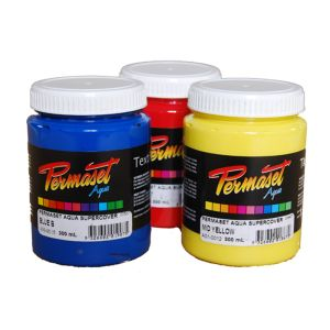 Permaset AQUA 100ml Fabric Ink PHOSPH. GREEN_