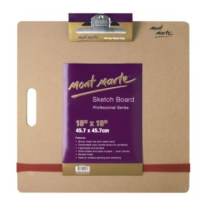 Mont Marte Medium Sketch Board with clips