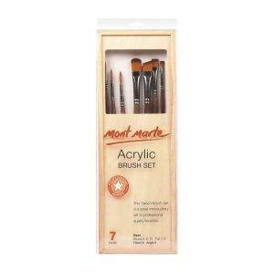 Mont Marte Acrylic Brush Set in box 7pce