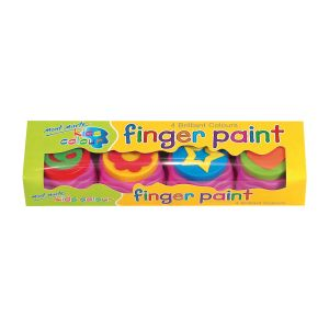Mont Marte Kids Colour Finger Paints 4pce w/stamp