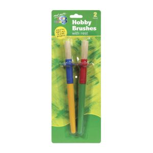 Mont Marte Kids Colour Hobby Brush with Rest 2pce