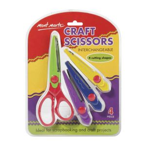 Mont Marte Craft Scissors Interchangeable 4pce