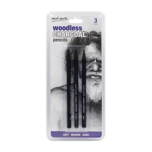 Mont Marte Woodless Charcoal Pencils 3pce
