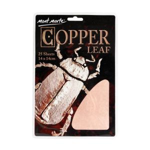 Mont Marte Imitation Copper Leaf 14x14cm 25 sheets