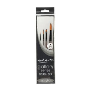 Mont Marte Gallery Series Brush Set Acrylic 4pce 0009