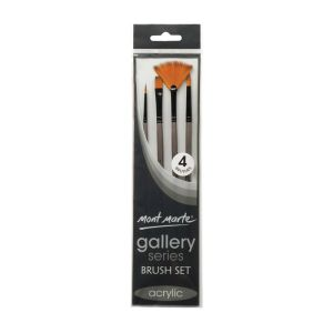 Mont Marte Gallery Series Brush Set Acrylic 4pce 0010