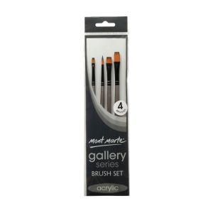 Mont Marte Gallery Series Brush Set Acrylic 4pce 0011