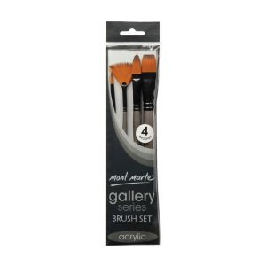 Mont Marte Gallery Series Brush Set Acrylic 4pce 0012