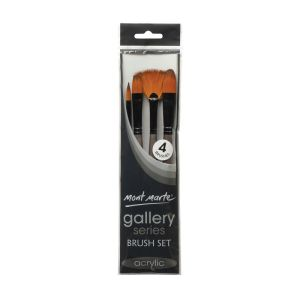 Mont Marte Gallery Series Brush Set Acrylic 4pce 0013