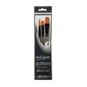 Mont Marte Gallery Series Brush Set Acrylic 4pce 0014