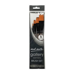 Mont Marte Gallery Series Brush Set Acrylic 5pce