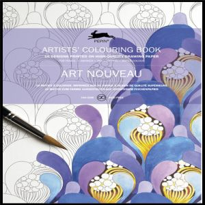 Pepin Artist Colouring Book - Art Nouveau