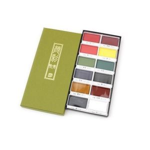 Kuretake Gansai Tambi Watercolour Set 12 Colours