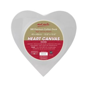 Mont Marte Canvas Heart Shaped 40x40cm