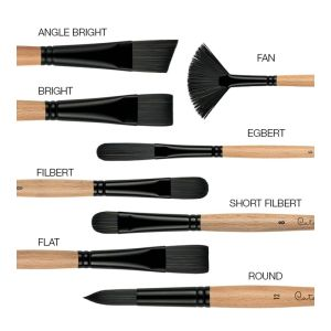 Princeton Brush 6400 Catalyst Polytip SHORT FILBERT