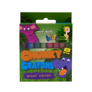 Mont Marte Kids Chunky Crayons 8pce
