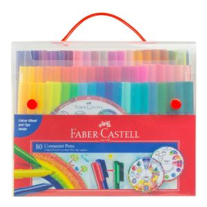 Faber-Castell Connector Pens Case of 80 + Colour Wheel