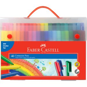 Faber-Castell Connector Pens Case of 40 + Colour Wheel