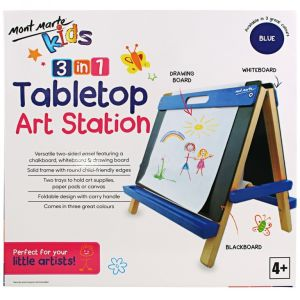 Mont Marte Kids Tabletop Art Station - Blue
