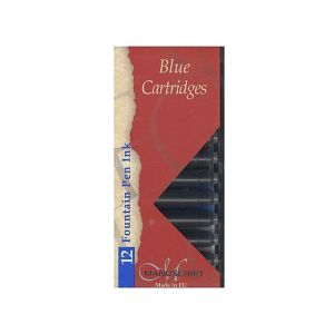 Manuscript Fountain Pen Ink Cartridge Pk 12 - Blue