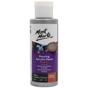 Mont Marte Pouring Acrylic 120ml - Silver