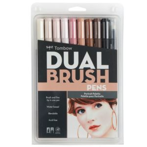 Tombow Dual Brush Pen Set of 10 Portrait