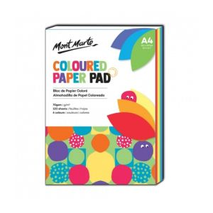 Mont Marte Coloured Paper Pad A4 120 sheets 70gsm