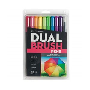 Tombow Dual Brush Pen Set of 10 Bright