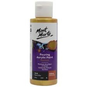 Mont Marte Pouring Acrylic 120ml - Gold