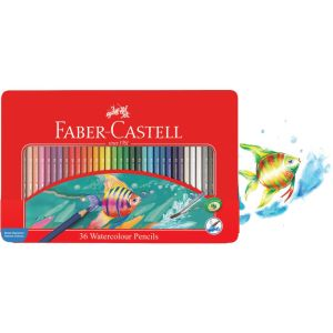 Faber-Castell Watercolour Pencils tin of 36