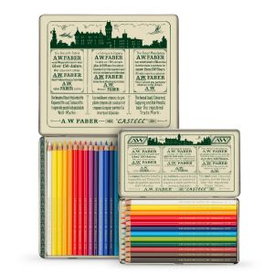 FC Polychromos Coloured Pencil Retro Tin of 12