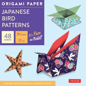 Origami Paper 21 x 21cm - Japanese Bird Patterns