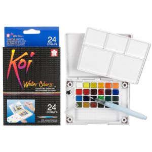 Sakura KOI Watercolour Field Box 24 assorted