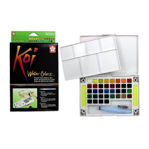 Sakura KOI Watercolour Field Box 36 assorted