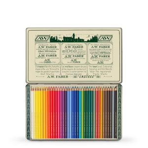 FC Polychromos Coloured Pencil Retro Tin of 36