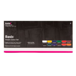 IRONLAK BASIC ACRYLIC COLOUR 12 PIECE SET